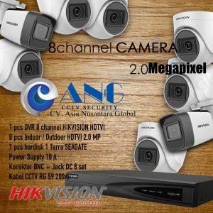 8 CH HIKVISION HDTVI 2.0MP