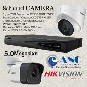 8 CH HIKVISION HDTVI 5.0MP